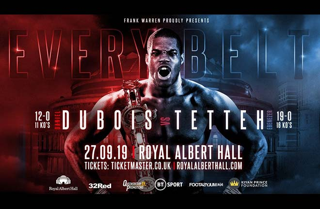 Daniel Dubois takes full house. Credit: Frank Warren