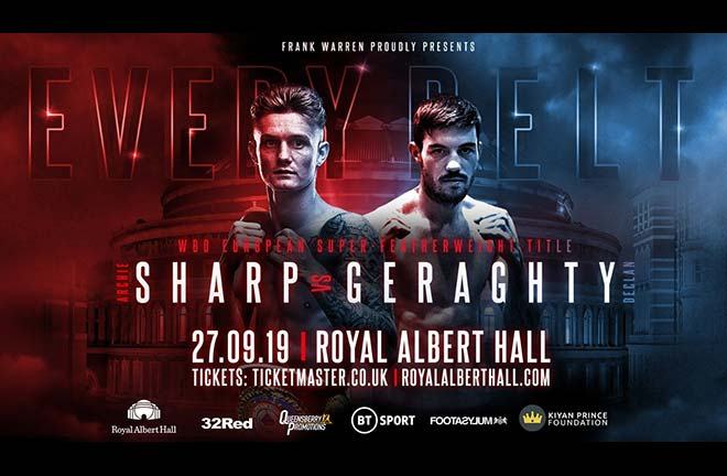 Declan Geraghty challenges WBO European super-featherweight champion Archie Sharp on September 27. Credit: Frank Warren