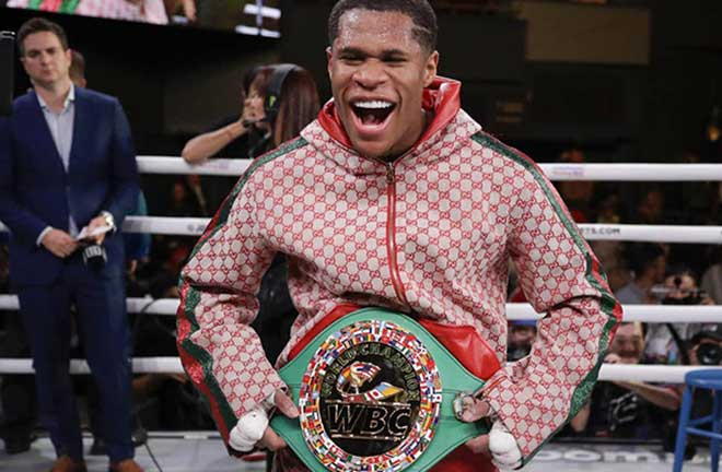 Devin Haney called out Lomachenko after his victory over Abdullaev. Credit: The Independent