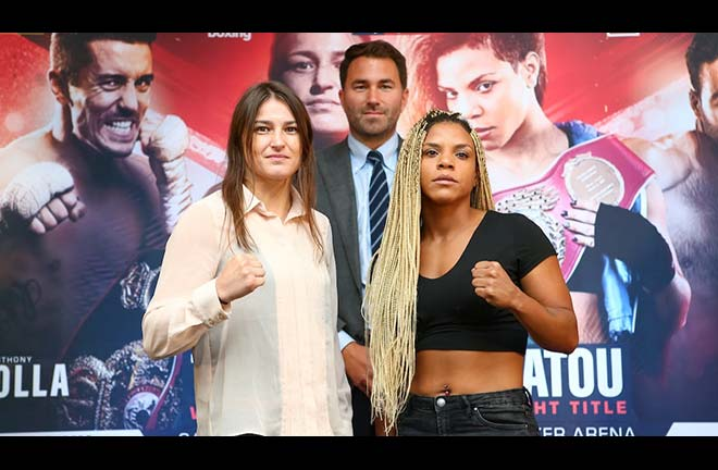 Taylor vs Linardatou press conference quotes. Credit: Matchroom Boxing