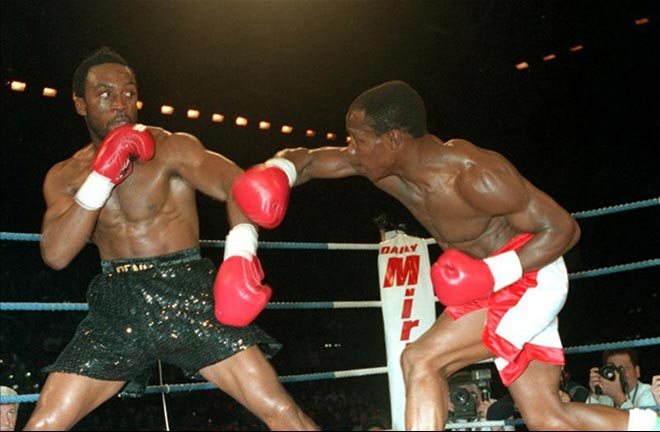 Benn vs Eubank back in 1993. Credit: The Boxing Tribune