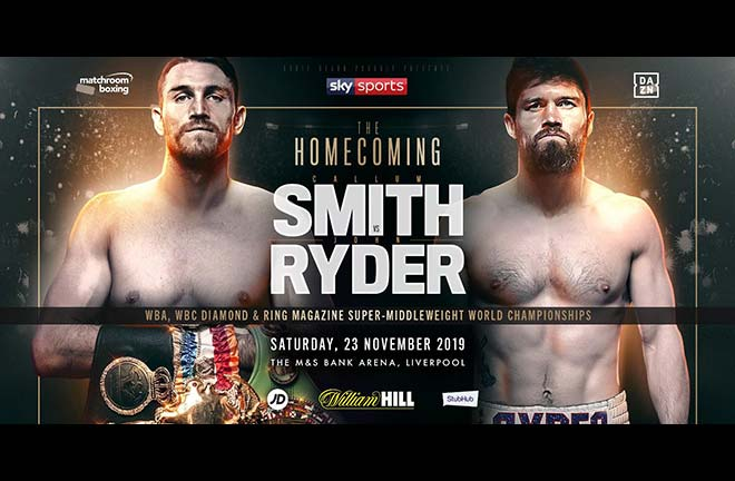 Callum Smith Meets John Ryder In Liverpool Homecoming. Credit: Matchroom Boxing