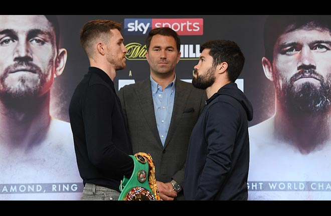 Ryder is not concerned about Smith's significant height advantage Credit: Matchroom Boxing
