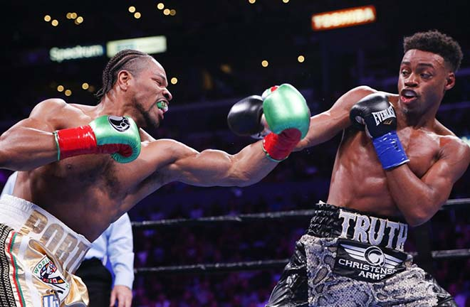 Errol Spence with Shawn Porter. Credit: Yahoo Sports