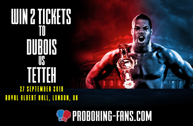 Dubois vs Tetteh Ticket Competition.