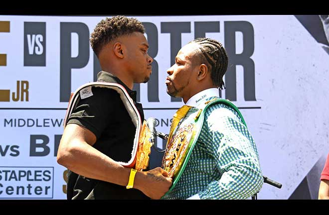 Spence Jr outpointed Porter in Los Angeles on September 28 Credit: CBS Sports