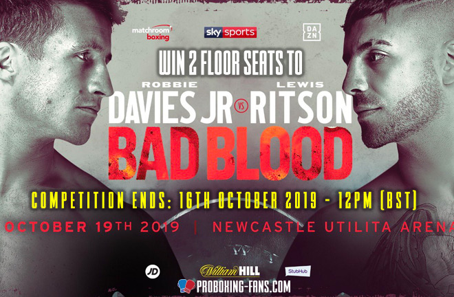 Davies Jr vs Ritson Ticket Competition.