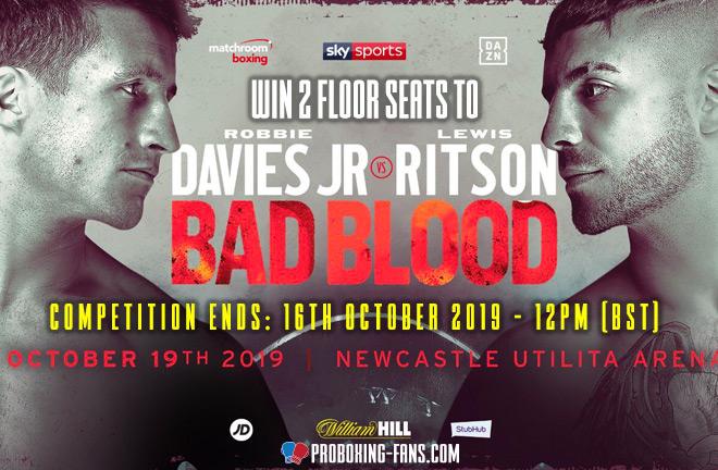 Davies Jr vs Ritson Ticket Competition.