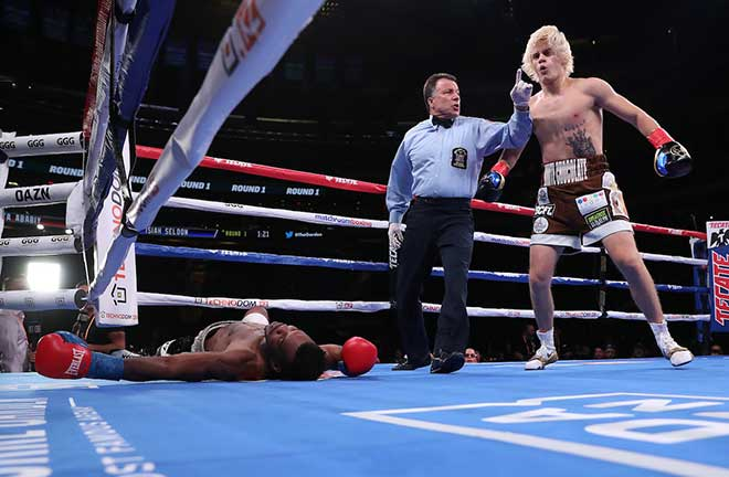Ababiy Adds Another First Round KO In New York. Credit: Matchroom Boxing