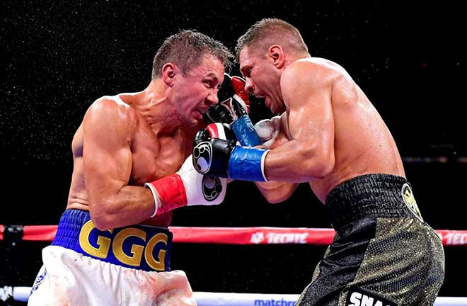 GGG won the fight by a close unanimous decision by scores of 114-113, 115-112 and 115-112 to reclaim the vacant IBF and IBO middleweight belts. Credit: talkSPORT