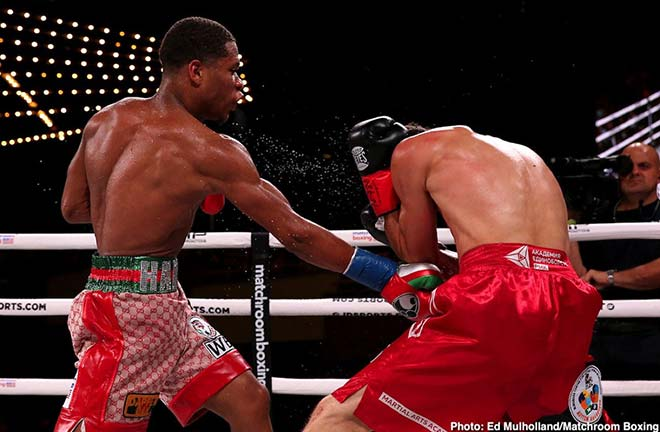 Haney stopped Abdullaev in four rounds. Credit: Matchroom Boxing