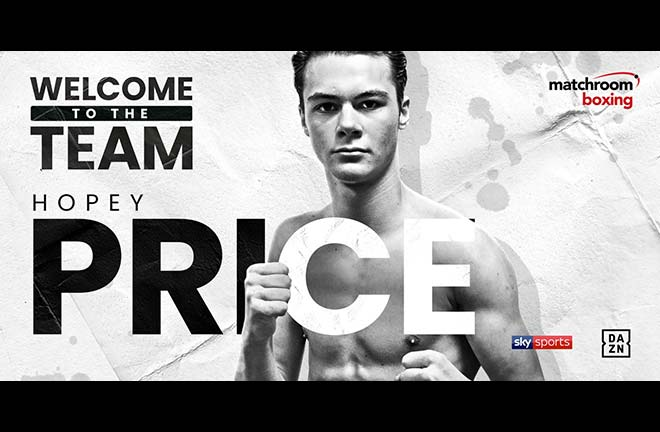 Amateur Standout Hopey Price Signs With Matchroom. Credit: Matchroom Boxing