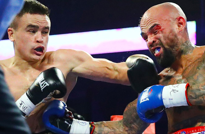 Kudratillo Abdukakhorov proved too much for former world champion Luis Collazo Credit: Top Rank