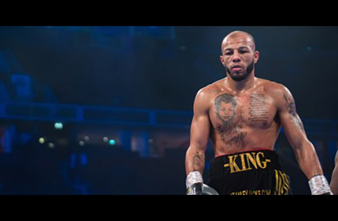 Lyndon Arthur challenges for the vacant title at Light heavyweight against Emmanuel Anim. Credit: Frank Warren
