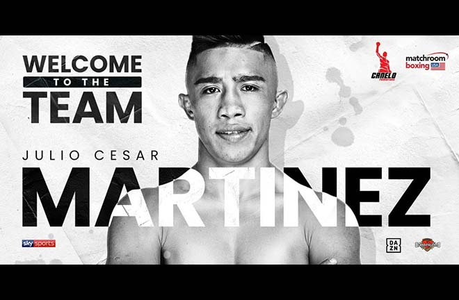 Julio Cesar Martinez Signs Promotional Deal With Matchroom Boxing USA. Credit: Matchroom Boxing