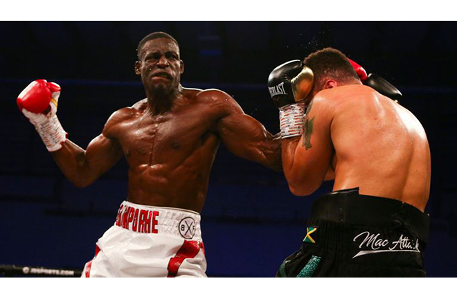 Richard Riakporhe says the public want to see him knock out Lawrence Okolie Credit: Sky Sports