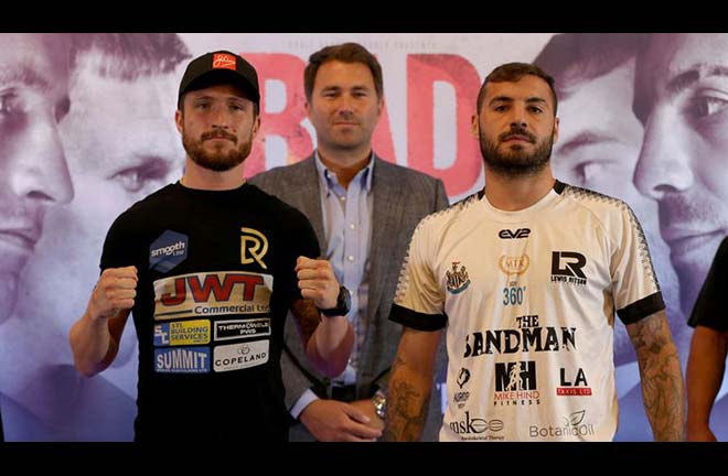 Davies Jr and Ritson go head to head this weekend in Newcastle. Credit: Sky Sports