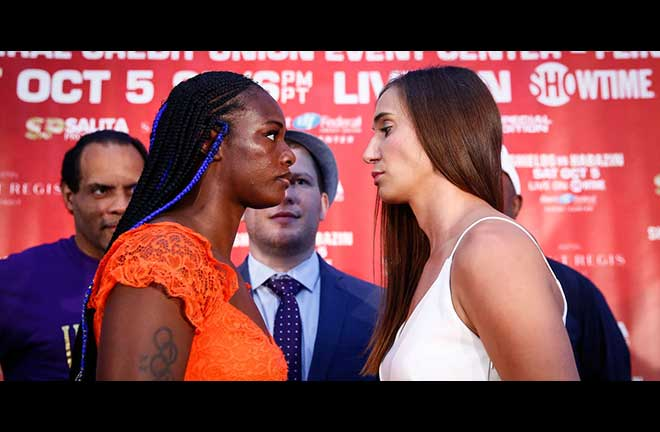 Shields-Habazin intense face off. Credit: Showtime
