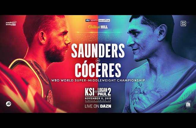 Billy Joe Saunders Faces Coceres On US Debut. Credit: Matchroom Boxing