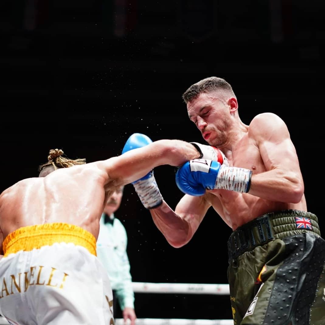 Reece Bellotti fell short against Francesco Grandelli Credit: Matchroom Boxing
