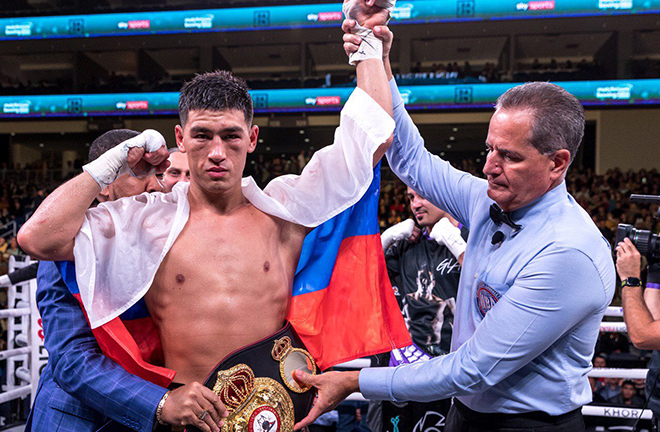 Dmitry Bivol successfully defended his WBA light heavyweight title Credit: Dmitry Bivol