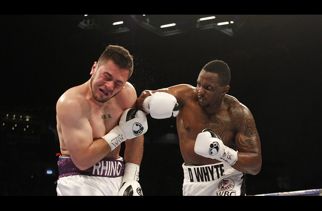 Dave Allen took Dillian Whyte the distance in 2016 Credit: Sky Sports