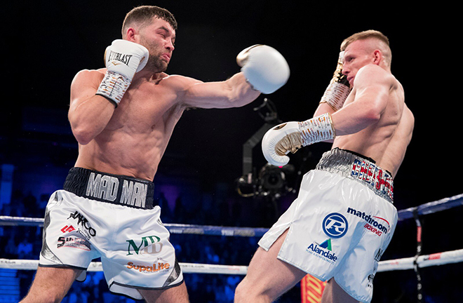 Scott Fitzgerald has set up a rematch with Anthony Fowler after victory over Ted Cheeseman Credit: Matchroom Boxing