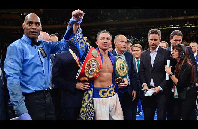 GGG Holds off Derevyanchenko for Win. Credit: CBS Sports