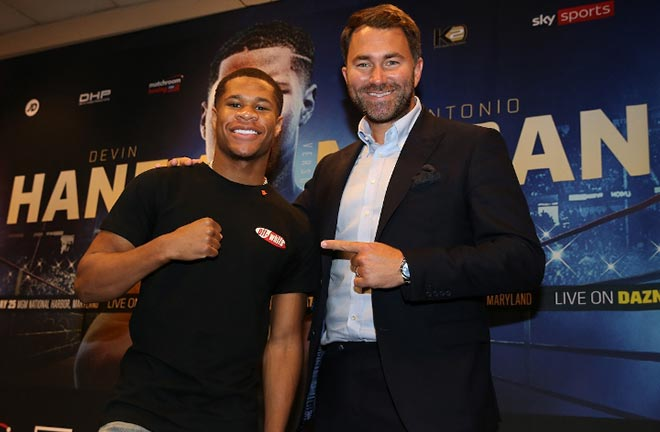 "Haney; I'm blessed to be signed to Matchroom and Eddie Hearn"" Credit: Boxing Scene"
