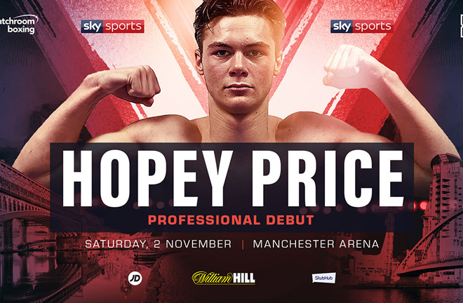 AMATEUR STANDOUT HOPEY PRICE SIGNS WITH MATCHROOM & LOOKS TO MAKE DEBUT ON 2ND NOVEMBER IN MANCHESTER.