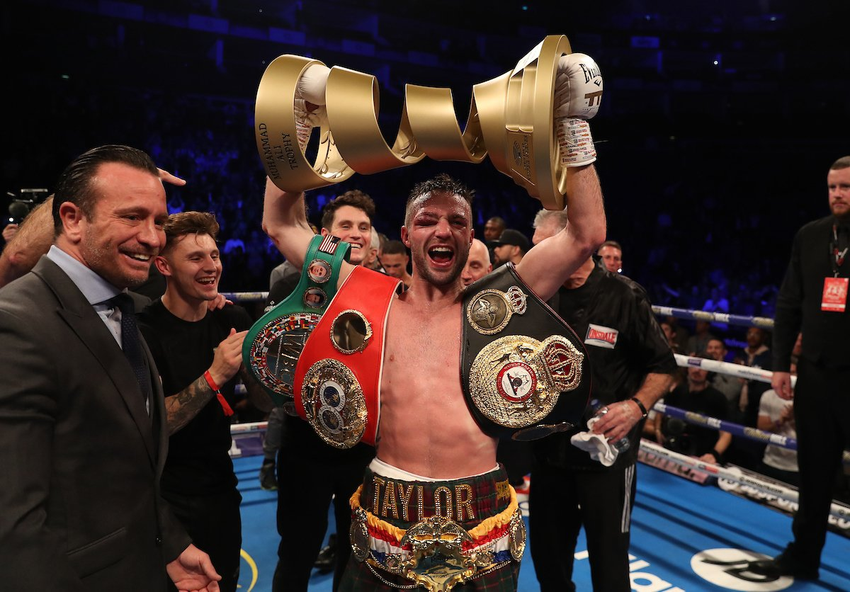 Josh Taylor holds the unified IBF and WBA titles as well as the Ring Magazine belts Photo Credit: Matchroom Boxing