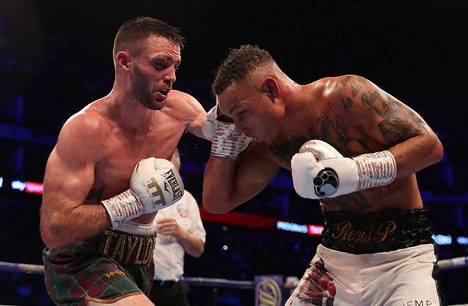 Taylor ripped away Prograis' WBA belt to add to his IBF strap at the O2 Arena Credit: Sky Sports