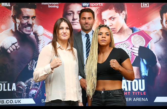 Katie Taylor faces Christina Linardatou for the WBO super-lightweight crown on Saturday Credit: Matchroom