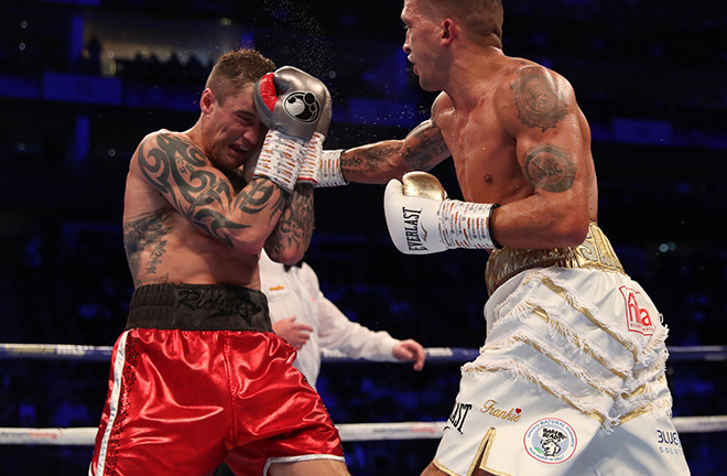 Selby defeated three-weight world champion Ricky Burns in a thrilling fight last October Credit: Matchroom Boxing