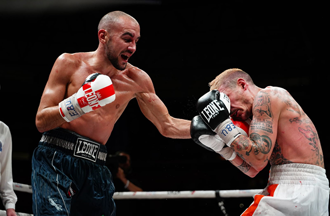 Patera claimed the European strap against Newcastle's Lewis Ritson last October Credit: Matchroom Italy