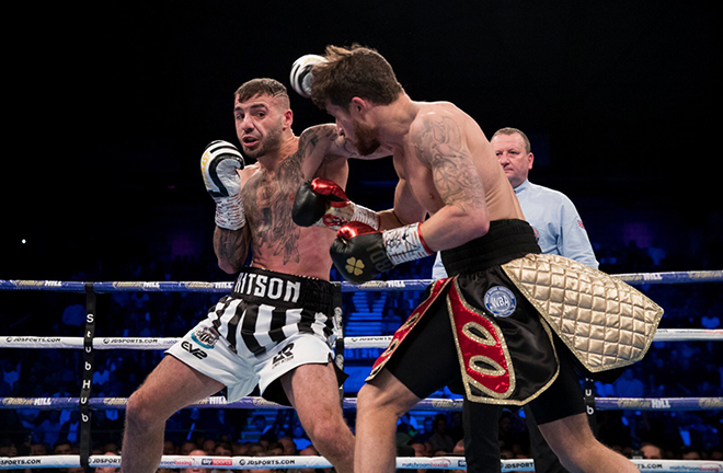 Lewis Ritson has called for a fight with Josh Taylor at St James' Park after beating Robbie Davies Jr Credit: Matchroom Boxing