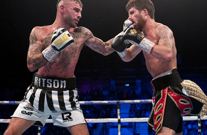 Lewis Ritson defeated Robbie Davies Jr in a thriller in Newcastle Credit: Matchroom Boxing
