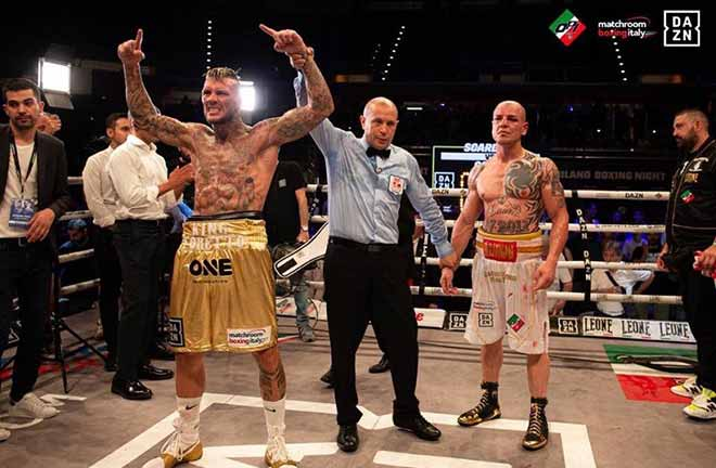 Daniele Scardina defends his IBF International Super Middleweight Title against Ilias Achergui. Credit: DAZN