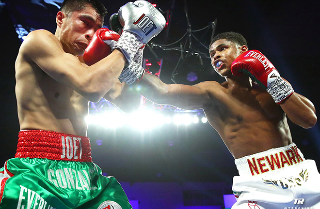 Shakur Stevenson could be an option after claiming the WBO title against Joet Gonzales Credit: BT Sport Boxing