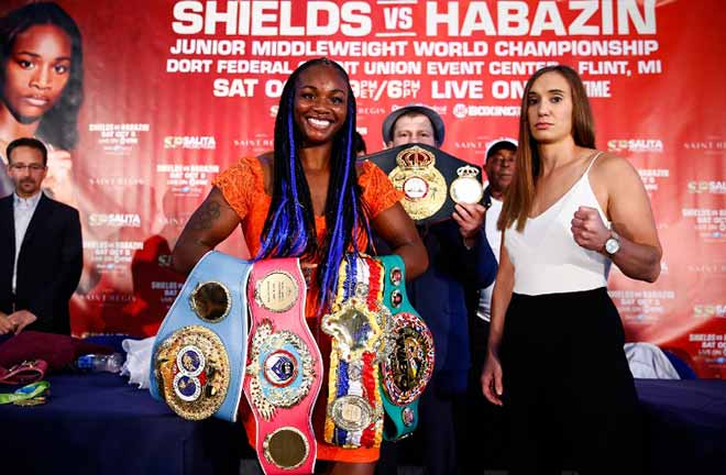 Shields: 'she thinks she's going to stand there blow for blow with me, she's crazy' Credit: Boxing Scene