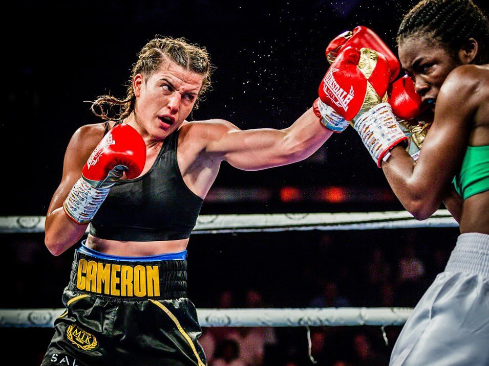Unbeaten Cameron cornering world champions. Credit: MTK Global