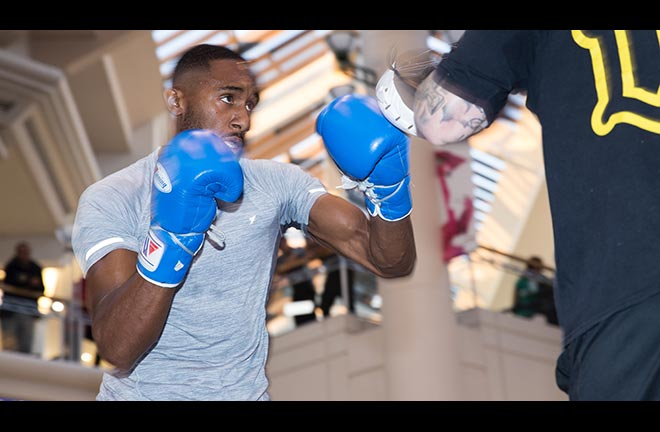 Osueke: I'm more than ready to step up in class. Credit: Matchroom Boxing