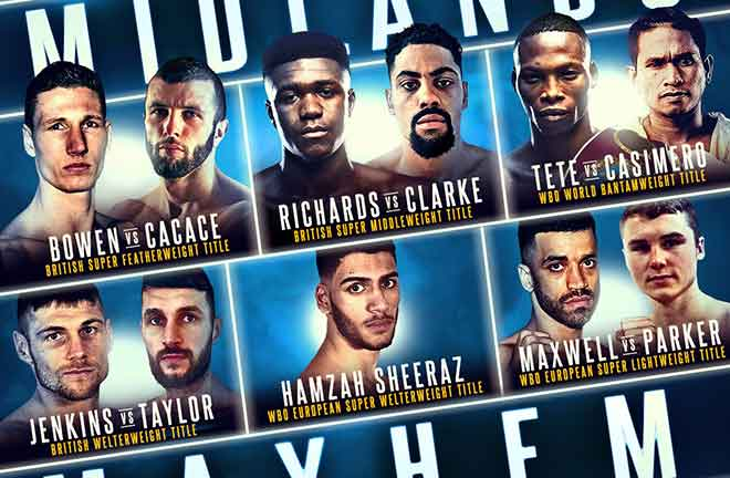 Midlands Mayhem Comes To The Arena Birmingham On November 30. Credit: Frank Warren