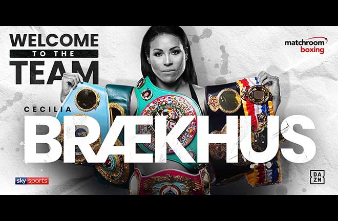 Woman's P4P Star Cecilia Braekhus Signs With Matchroom Boxing. Credit: Matchroom Boxing