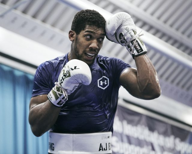 Anthony Joshua insists he is not afraid ahead of his rematch with Andy Ruiz Jr Credit: Matchroom Boxing