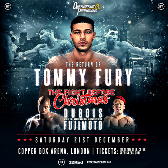 Unbeaten Tommy Fury fights for the third time as a pro following his stint on Love Island Credit: Frank Warren