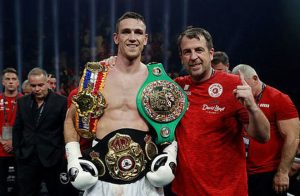Callum Smith after defeating George Groves. Photo credit: express.co.uk