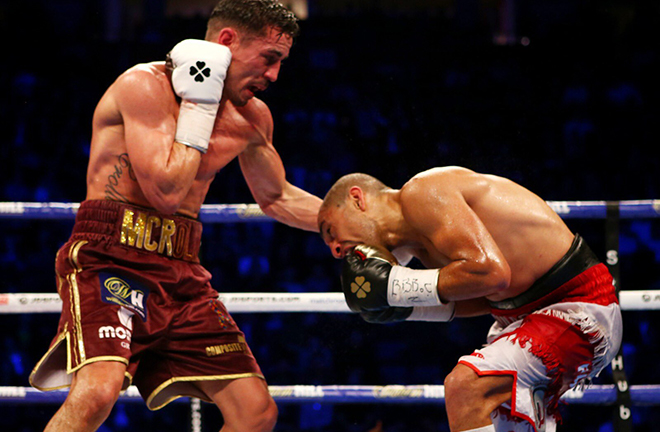 Anthony Crolla retired with a win after an emotional farewell in Manchester Credit: Matchroom Boxing