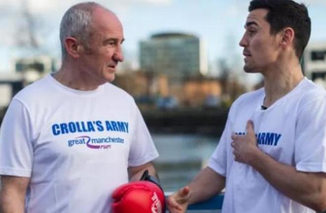 Anthony Crolla and his father, Wayne Crolla. Photo credit: mancunianmatters.co.uk