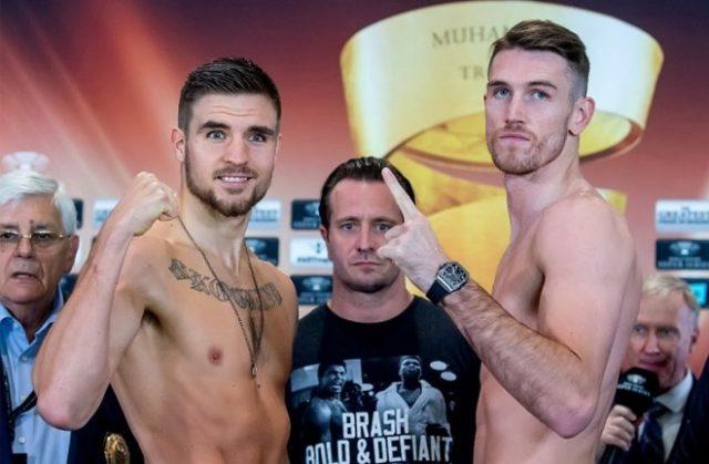 Erik Skoglund and Callum Smith. Photo credit: boxing scene.com